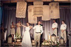 wedding ceremony - stage decor? Love those giant lanterns..