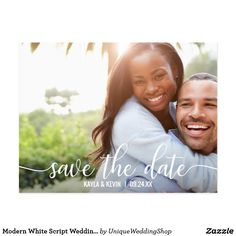 Thanks Thank You Card Wedding Engagement Custom - wedding thank you marriage thankyou idea diy customize personalize Modern Save The Dates, Save The Date Photos, Save The Date Postcards, Wedding Save The Dates, Photo Postcards, Save The Date Cards, Wedding Postcard, Wedding Cards, Save My Marriage