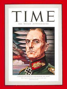 TIME Magazine Cover: Karl von Rundstedt - Aug. 31, 1942 - Germany - Military - World War II - Nazism