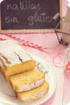 Custard cake gluten free - Spanish recipe but with English translation. They say to bake at but that actually means on this side of the water ; Gluten Free Sweets, Gluten Free Cakes, Gluten Free Cooking, Dairy Free Recipes, Delicious Desserts, Dessert Recipes, Dessert Ideas, Yummy Food, Muffins