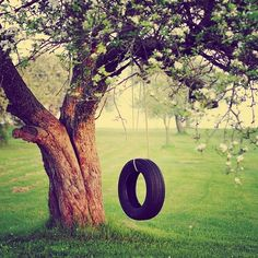 :)- I grew up with a tire swing! My kids will grow up with a tire swing! Some reason a backyard isn't complete without one of these :) haha
