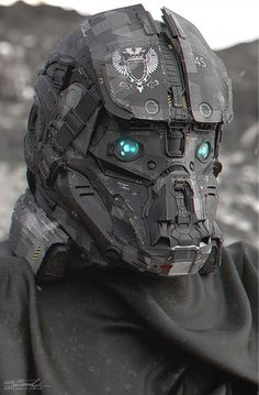 helmet_Warrior of Zenith by on deviantART Suit Of Armor, Body Armor, Science Fiction, Arte Robot, Futuristic Armour, Futuristic Helmet, Mekka, Sci Fi Armor, Future Soldier
