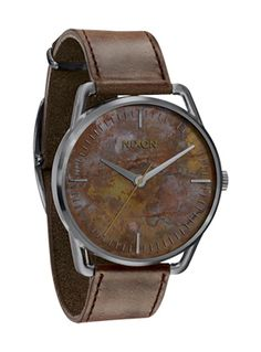 Rustic watch for the rugged look.