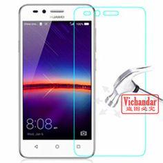 9 h prima de cristal templado para huawei y3 y3 2 y3ii ii Protector de pantalla de Vidrio Templado Película Protectora para teléfono caso Con kit de limpieza