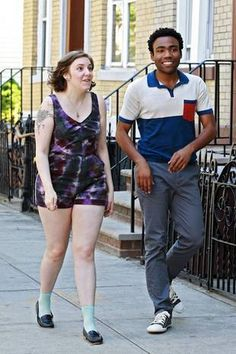 """Lena Dunham & Donald Glover currently filming the second season of Lena's HBO """"Girls"""" series, on location in Greenpoint, Brooklyn This is more her body type Girls Season 2, Girls Hbo, Emily Vancamp, Lena Dunham, Donald Glover, Daniel Gillies, Girls Series, Zooey Deschanel, Jamie Fraser"""
