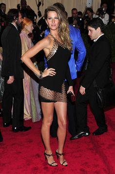 Gisele Bundchen en la alfombra roja de la gala MET 2013 en Nueva York