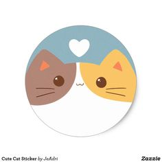 Shop Cute Cat Sticker created by JeAdri. Tumblr Stickers, Cat Stickers, Cat Whisperer, F2 Savannah Cat, Cat Drawing, Cute Illustration, Dog Mom, Cat Art, Cats And Kittens