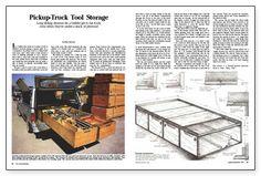 Pickup-Truck Tool Storage