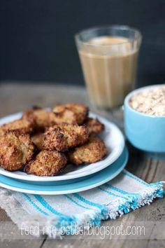 Coconut Oatmeal Macaroons Cookies (shredded coconut, use all oats) Macaroon Cookies, Macaroons, Coconut Oatmeal, Cookie Brownie Bars, Shredded Coconut, How To Make Cookies, Stevia, Betta, Granola