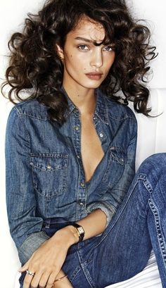 Model Luma Grothe - denim on denim