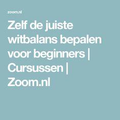 Zelf de juiste witbalans bepalen voor beginners   Cursussen   Zoom.nl