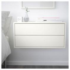 EKET Cabinet with 2 drawers - white - IKEA