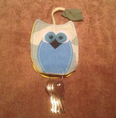 Annies DIY: RUMS: Schlüsselanhänger Schlüsseltasche Eule