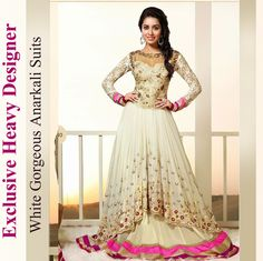 Exclusive Heavy Designer White Gorgeous Anarkali Suits #‪Wedding‬ Collection and ‪#‎offers‬ Use Promo-codes  For Free COD - SPLCODFREE For Extra Discount- FB100 Order now...http://www.shopdrill.com/product-1486-Exclusive-Heavy-Designer-White-Gorgeous-Anarkali-Suits-V--V-SEM395-031.html