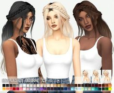 Simpliciaty`s Desirae hairstyle retextured for The Sims 4 Sims 4 Mods Clothes, Sims 4 Clothing, Sims Mods, Sims 4 Cas, Sims Cc, Sims 4 Cc Folder, The Sims 4 Cabelos, Sims 2 Hair, Pelo Sims