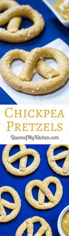 Chickpea Pretzels - An all-American snack made healthier and gluten-free with the help of protein and fiber rich chickpea flour.