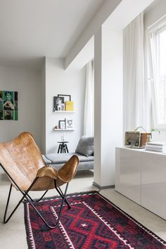 at home with laura seppänen. Love the leather butterfly chair. Home And Living, Decor, Interior Design, House Interior, Furniture, Apartment Decor, Home, Interior, Home Decor