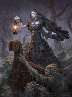 Morbid Fantasy — Princess of Ghouls, regular by Livia Prima Gothic Fantasy Art, Digital Art Fantasy, Medieval Fantasy, Fantasy Artwork, Final Fantasy, Arte Obscura, Witch Art, Arte Horror, Gothic Horror