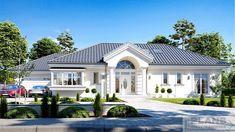 Zdjęcie projektu Willa Parkowa 6 in 2020 Modern Bungalow Exterior, Modern Bungalow House, Bungalow House Plans, House Plans Mansion, My House Plans, One Storey House, House Outside Design, Beautiful House Plans, Village House Design