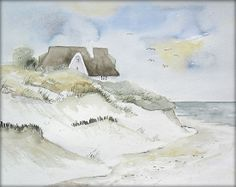 """Am Nordseestrand"" / Watercolor / Painting / Original /// Prices from € 15 (Ebay auction) /// Postage and packing € 3 (Global shipping)"
