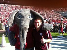 """Texas A fan slides by security, spends Alabama game on Aggies sideline (""""Sideline Guy"""" on TexAgs.com)"""