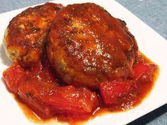 完熟トマトソースの野菜おからハンバーグの画像