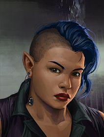 Female Dwarf Shadowrunner Portraits from Shadowrun Returns and Shadowrun: Dragonfall 1, 2 Humans Dwarves Elves Orks Trolls