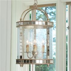 Mirror Mosaic Lantern-- could be gorgeous over island?  Price tag is yikes!