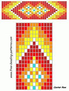 free-beading-patterns-barrette-blazing-red