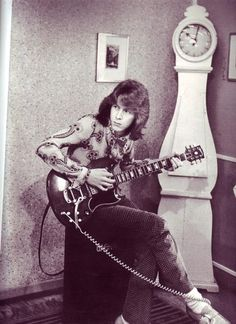 Mick Taylor of the stones in Ossie Clark