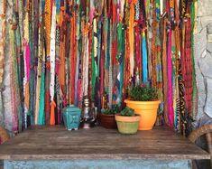 bohemian handmade curtains by Melisalanious on Etsy Rag Curtains, Bohemian Curtains, Bohemian Interior, Bohemian Decor, Bohemian Porch, Bohemian Furniture, Gypsy Decor, Cortinas Boho, Bohemian Bathroom