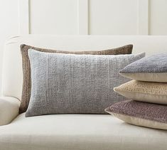 Journey Chenille Jacquard Lumbar Pillow Covers #potterybarn