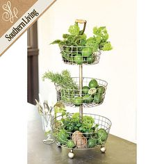 Southern Living Tiered Wire Basket | Ballard Designs