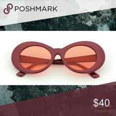 72c0b98f3d3 NEW Retro Wine Trendy Sunglasses Retro grunge round sunnies UV 400 lenses  Poly Frames FREE soft case included New never worn Non-smoking environment  boho ...