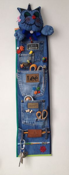 36 ideas para reciclar jeans o ropa vaquera - Best Sewing Tips Diy Jeans, Recycle Jeans, Upcycle, Jeans Recycling, Sewing Jeans, Recycling Kids, Diy With Jeans, Sewing Clothes, Diy Clothes