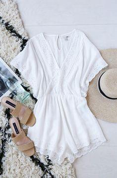ca3ebb630d7 Amuse Society Anderson White Lace Romper