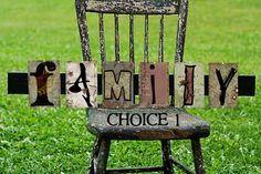 Family Sign by heidikuester on Etsy, $30.00, I want to do this with old and new family pictures.
