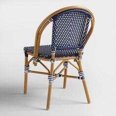 Dark Navy Kaliko French Bistro Chairs Set of 2 - v4