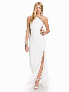 Sofia Sequin Maxi Dress - Tfnc - Cream Gold - Festkjoler - Tøj - Kvinde - Nelly.com