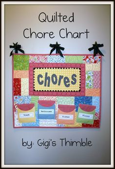 Quilted Chore Chart « Moda Bake Shop