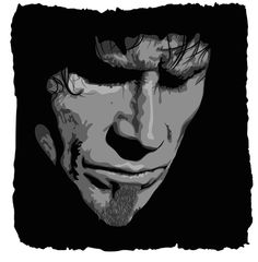 Mark Lanegan Mark Lanegan, Devil, Illustrations, God, Portrait, American, Music, Fictional Characters, Dibujo