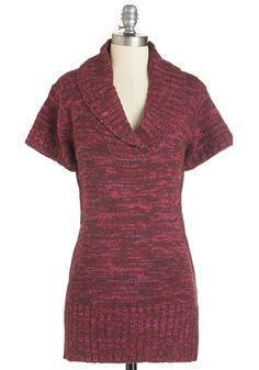 Pullovers - Time Away Tunic in Sangria
