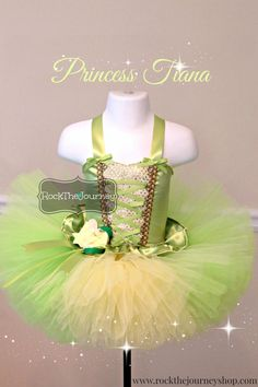 Princess Tiana Birthday Party Tutu Outfit-The Frog Green Fairy