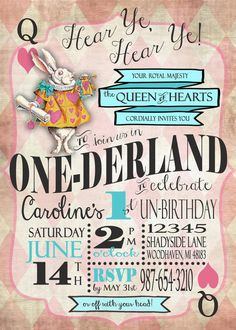 Boys Girls Alice in Wonderland First by SweetBeeTeaBoutique