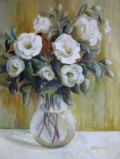 Painting - White Flowers by Elena Oleniuc , Canvas Prints, Framed Prints, Wonderful Flowers, Floral Invitation, Art Pages, Botanical Prints, White Flowers, Flower Art, Glass Art