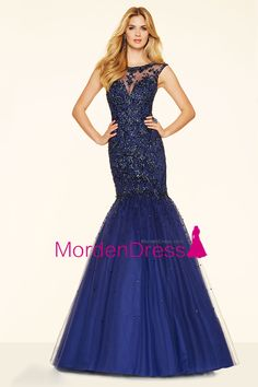DressilyMe Bridal Dresses Online,Wedding Dresses Ball Gown, marvelous tulle jewel neckline mermaid evening dresses with beadings embroidery Mori Lee Prom Dresses, Prom Dresses 2016, Designer Prom Dresses, Prom Dresses For Sale, Ball Dresses, Prom 2016, Dance Dresses, Ball Gowns, Wedding Dresses