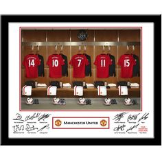 Personalised Manchester United Dressing Room Print  from Personalised Gifts Shop - ONLY £29.95