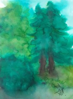 upon the time in forest 2 / Watercolor, paper