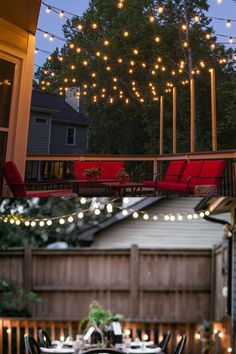 Great ways to light up your patio at home! Hanging Patio Lights, Patio Lighting, Light Up, Projects, House, Home Decor, Log Projects, Home, Haus