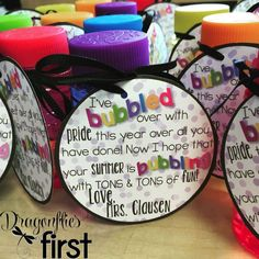 FREE End of the Year BUBBLES gift tag